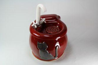 cordless round pet drinking fountain